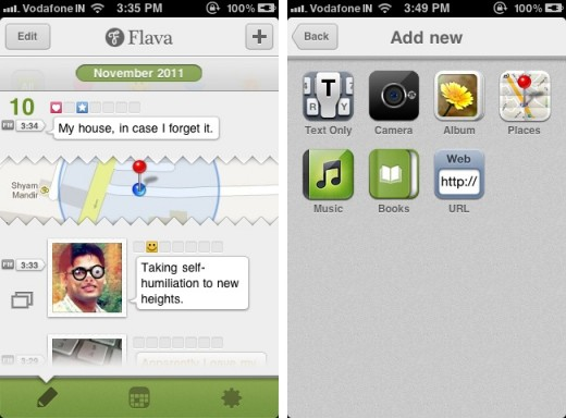 flava 1 520x384 Flava is a fun and quirky journaling app for the iPhone