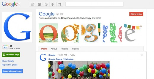 googlepage 520x267 Google welcomes brands to Google+ by launching Pages and Direct Connect