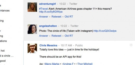googleplus1 520x251 This Chrome extension for Google+ is a better Twitter client than Twitter