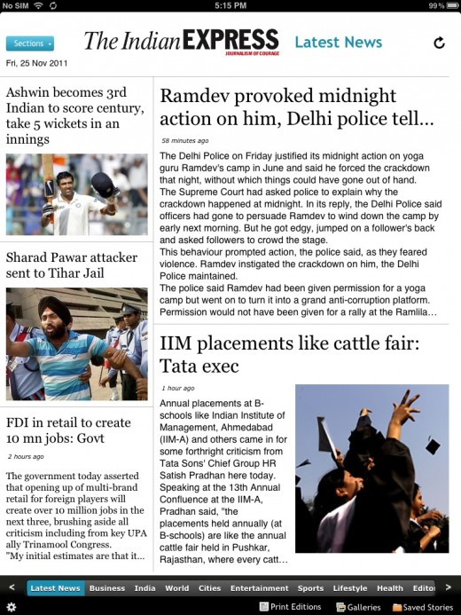 indian express ipad 520x693 The Financial Times brings its iOS only Web app to India