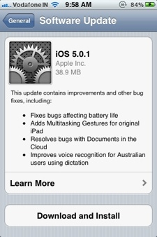 ios 5 0 1 update release notes iphone Battery life issues linger and address book bug surfaces after iOS 5.0.1 update