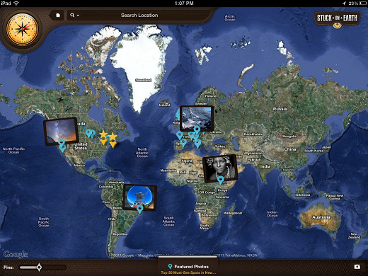 map Stuck On Earth lets you travel the world on your iPad
