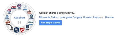 mlbplus 520x157 All 30 Major League Baseball teams now have a Google+ Page