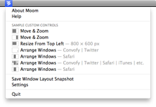 moom menu bar Moom Brings Advanced Window Management to Your Mac