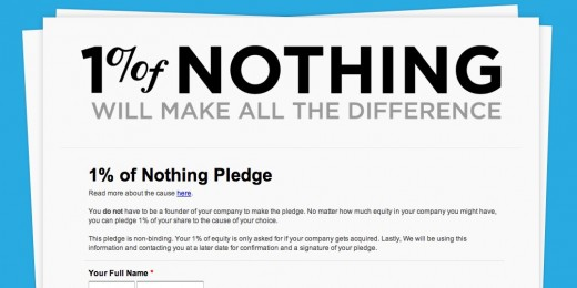 nothingpledge 520x260 1% of Nothing asks startups to pledge 1% ownership of company to social good