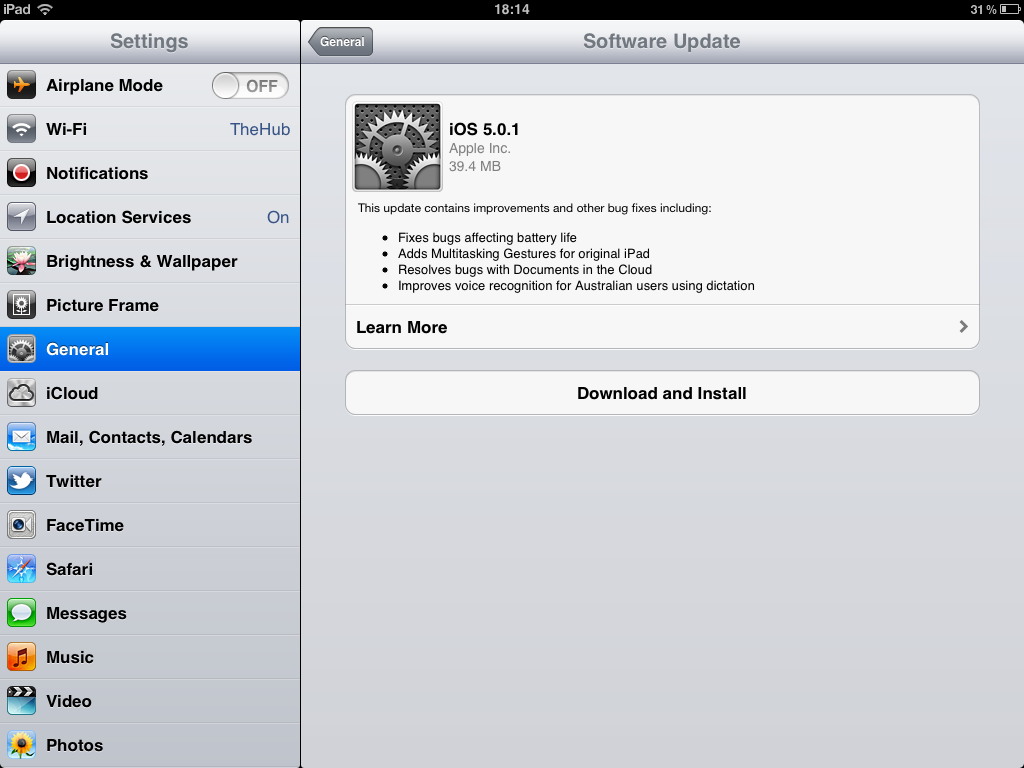 can go to settings general software update to update your device