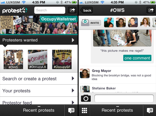 protest4 Protest4: A mobile app for connecting activists