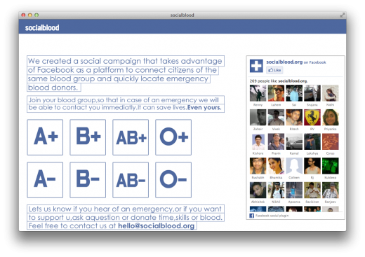 socialblood 520x367 Indian startup Socialblood leverages Facebook to help you find blood donors