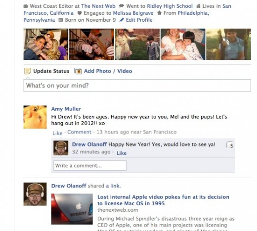 1 Drew Olanoff 1 520x467 Not a fan of Timeline on Facebook? Use IE7, Facebook stopped supporting it
