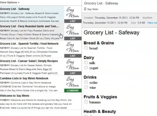 28 Say Mmm on Evernote 1 520x387 Say Mmms integration with Evernote automatically creates grocery lists
