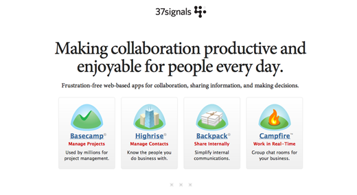37signals Web based collaboration apps for small business1 7 NYC design studio blogs that you should be reading
