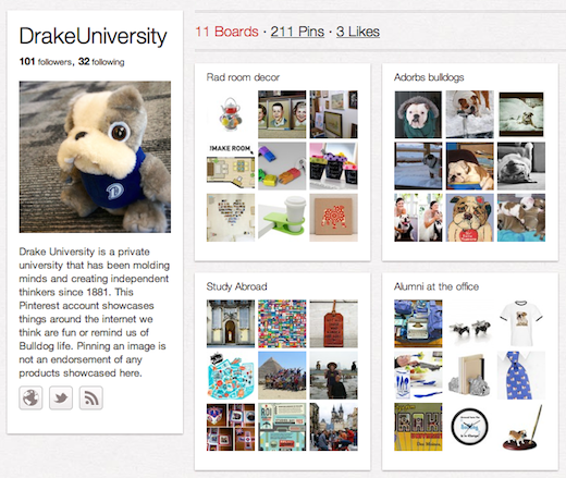 DrakeUniversity 10 cool Pinterest accounts you should be following