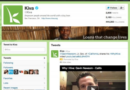 Kiva kiva on Twitter 520x362 Twitter launches official Ads for Good service, applications being accepted now