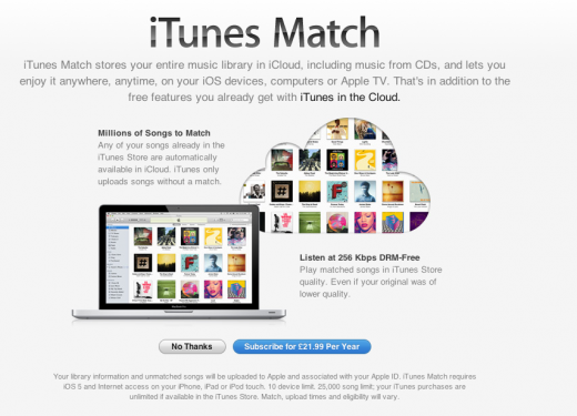 Match UK1 520x3751 iTunes Match begins its international roll out, no mistakes this time