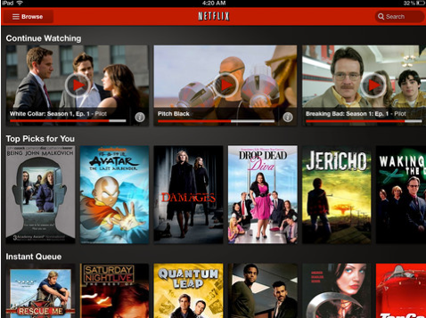 Netflix iPad Netflix updates its iOS app, now available in Latin America