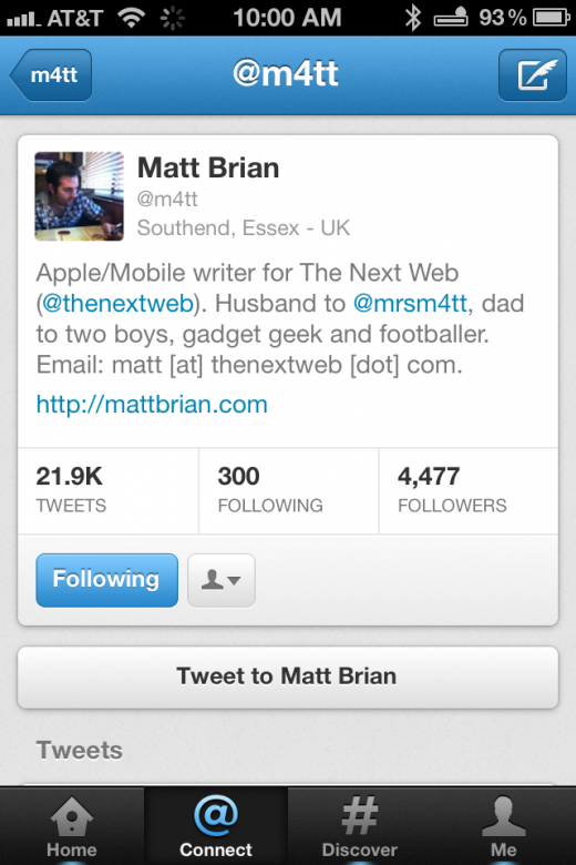 Photo Dec 08 10 00 39 AM 520x780 A walkthrough of the new Twitter 4.0 app for iPhone [Screenshots and Video]