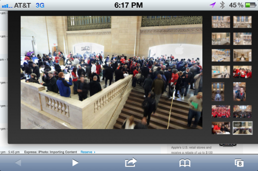 Photo Dec 11 6 17 14 PM 520x346 Apple posts gyro enabled 360 pano view of Grand Central NYC store, viewable on iDevices