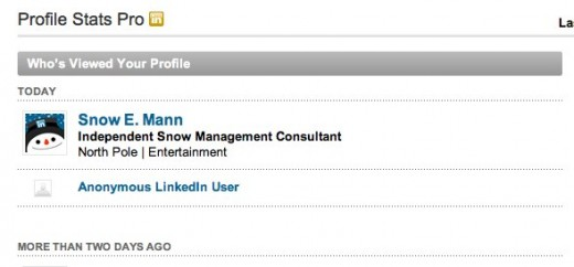 Profile Stats Pro LinkedIn 520x242 Snow E. Mann may have visited your LinkedIn profile today