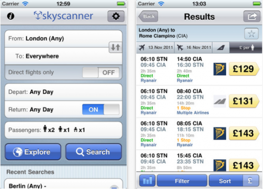 SSAPP 520x374 Flight search engine Skyscanner surpasses 5m app downloads