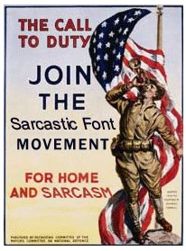 Sarcastic Font Finally, sarcasm has a voice in print with its own font