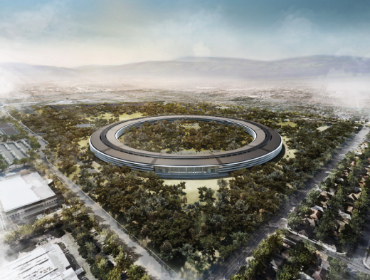 Screen Shot 2011 12 07 at 7.09.22 AM 520x393 Beautiful new details of Apples Spaceship 2.0 headquarters revealed
