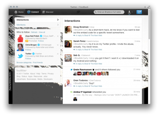 Screen Shot 2011 12 08 at 1.43.36 PM 520x379 The new Twitter is all about simplicity, discovery and usability
