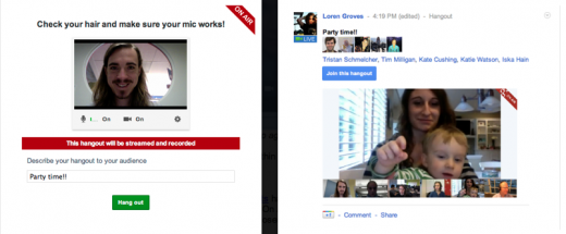 Screen Shot 2011 12 14 at 9.05.16 AM 520x215 Google+ Hangouts gets On Air broadcast and record, dial in voice and live notifications