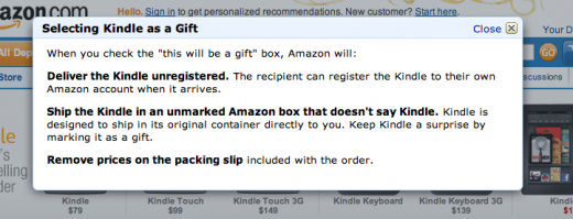 Screen Shot 2011 12 19 at 3.00.24 PM 520x199 Dont want to risk Kindle Fire fraud? Tell Amazon to ship it as a gift