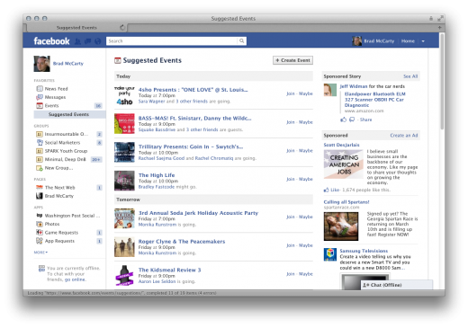 Screen Shot 2011 12 22 at 3.30.34 PM 520x365 Facebook rolls out Suggested Events, but you probably wont use them