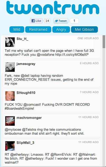 Screen shot 2011 12 05 at 11.32.09 AM Twantrum monitors consumers losing their cool on Twitter