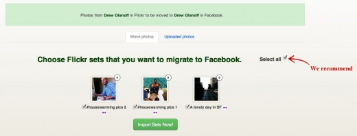 UnifyPhotos Move Flickr photos to Facebook 1 520x199 Easily migrate your Flickr photos to Facebook with UnifyPhotos
