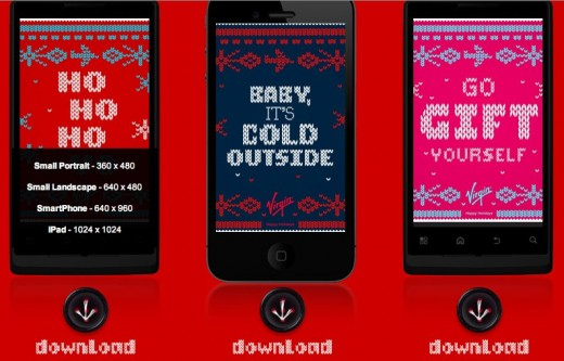 Virgin USA Warm Your Devices 520x333 Virgin thinks your iPhone needs an ugly holiday sweater, too