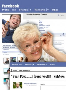 facebook mom stalker1 221x300 Our obsession with social networks guarantees their advertising power