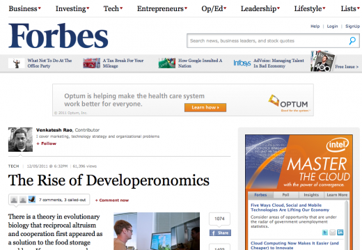 forbes3 520x359 Ads: The Death of User Experience on CNN, Forbes, Mashable