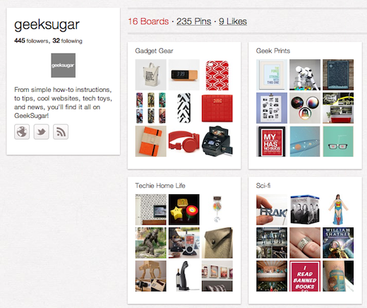 geeksugar 10 cool Pinterest accounts you should be following