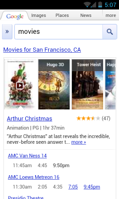 movies1 Google adds summaries, trailers, ratings and more to speed mobile movie search