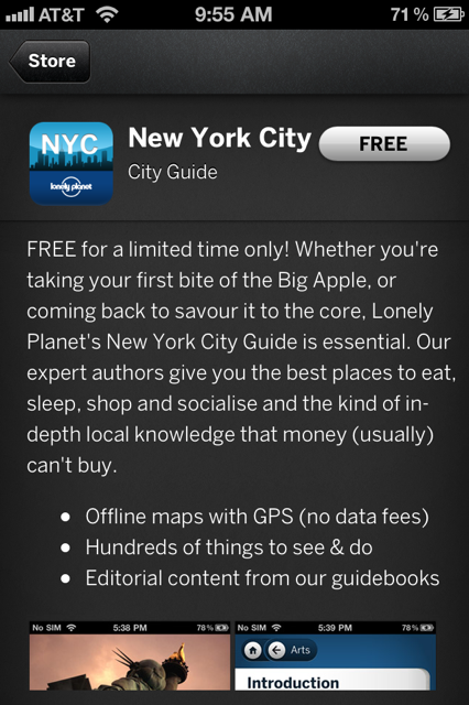 photo 26 Lonely Planets iOS guide to NYC goes free until December 15th