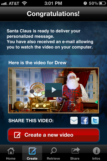 photo 43 Send a somewhat creepy personalized video greeting from Santa with this iOS app