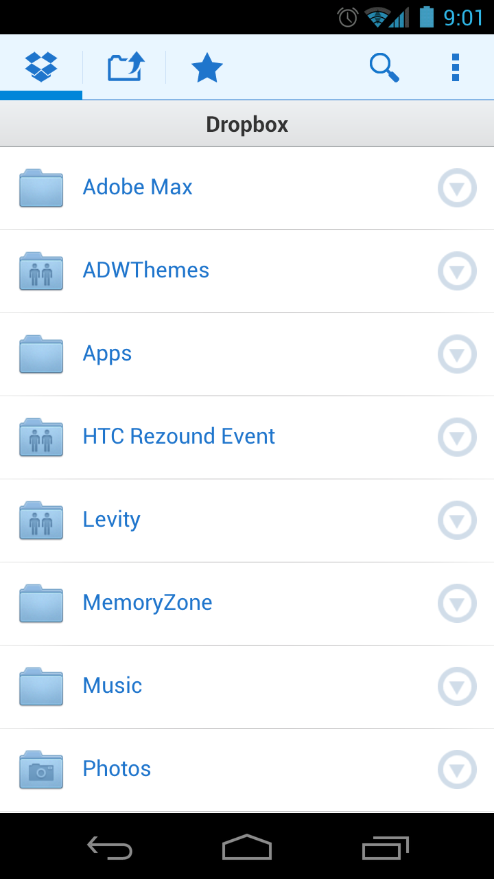 Dropbox's New Android App Delivers ICS Support, New UI