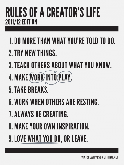 rules of creators life 1 520x690 These are the rules of a creators life