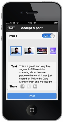 scoopit2 Scoop.it packs its blog style Web curation tools into a new iPhone app