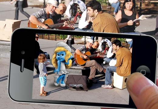 smurf2 520x358 GoldRuns new app features Smurfs in augmented reality