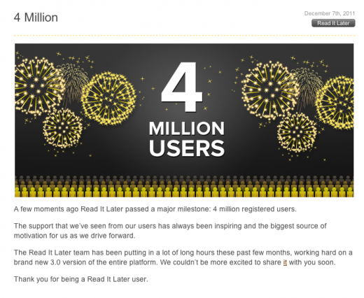 y 520x426 Read It Later hits 4 million registered users, fresh 3.0 version on the way