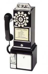 1950s pay phone 194x300 Areas that are ready for innovation in 2012, big companies beware