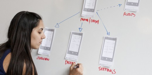8 520x257 Wireframe your website on paper with these awesome smartphone and Web UI stencils
