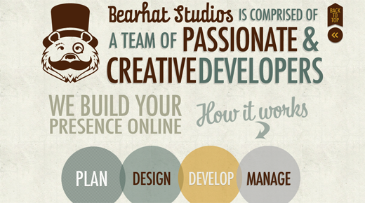 Bearhat Studios Website Packages 9 Excellent examples of scrolling websites for designers