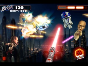 Brisk Saber 4 300x225 Lipton Brisk gets a mobile game to help launch the The Phantom Menace in 3D