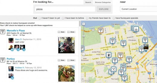 Convofy 118 520x276 Look out Google, foursquare takes its 1.5 billion check ins to the web with Explore