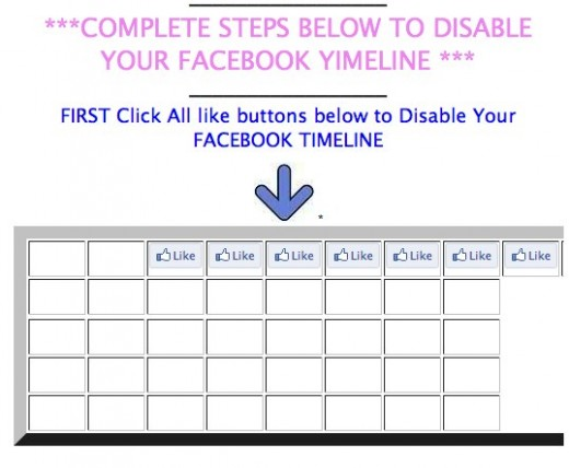 Disable Your F a c e b o o k Timeline 520x428 Facebook users who really dislike Timeline are getting scammed