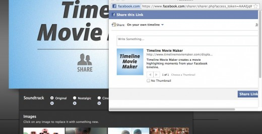 Facebook 2 520x267 Turn your Facebook Timeline into an amazing cinematic style movie